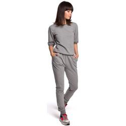 Abbigliamento Donna Tuta Be B104 Tuta con scollo a V sulla schiena - grigio