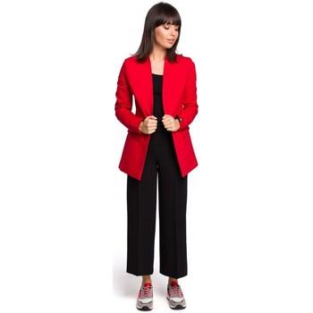 Abbigliamento Donna Vestiti Be B103 Blazer aperto in misto cotone - rosso