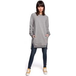 Abbigliamento Donna Vestiti Be B101 Tunica oversize con spacchi laterali - grigio
