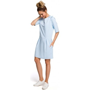 Abbigliamento Donna Abiti corti Moe M422 Abito a vita bassa con fiocco - azzurro