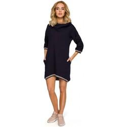 Abbigliamento Donna Top / Blusa Moe M401 Tunica con cappuccio - blu navy