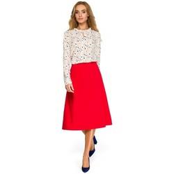 Abbigliamento Donna Felpe Style S133 Gonna A-line midi - rosso