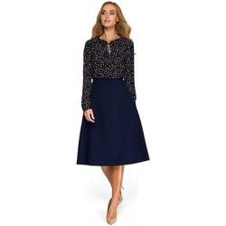 Abbigliamento Donna Top / Blusa Style S133 Gonna midi A-line - blu navy