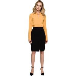 Abbigliamento Donna Vestiti Style S127 Gonna a matita avvolgente - nero