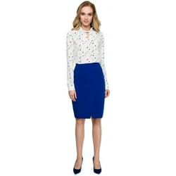 Abbigliamento Donna Gilet / Cardigan Style S127 Gonna a matita avvolgente - blu reale