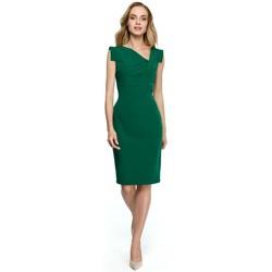 Abbigliamento Donna Abiti corti Style S121 Abito a matita con scollatura asimmetrica - verde