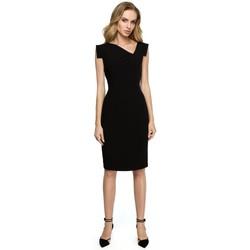 Abbigliamento Donna Gonne Style S121 Abito a matita con scollatura asimmetrica - nero