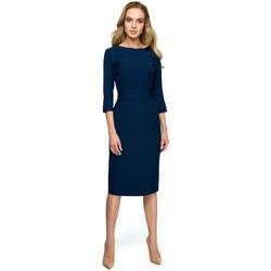 Abbigliamento Donna Abiti corti Style S119 Abito a tinta unita - blu navy