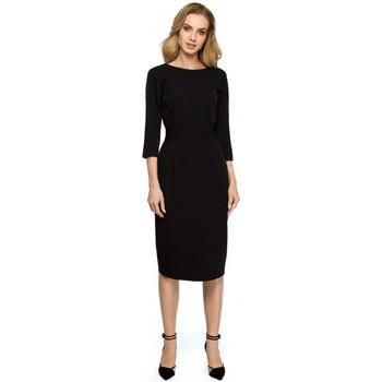 Abbigliamento Donna Abiti corti Style S119 Abito a tinta unita - nero