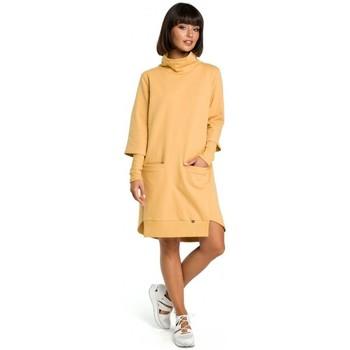 Abbigliamento Donna Vestiti Be B089 Abito asimmetrico a collo alto - giallo