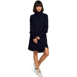Abbigliamento Donna Vestiti Be B089 Abito asimmetrico con scollo a rotolo - blu navy