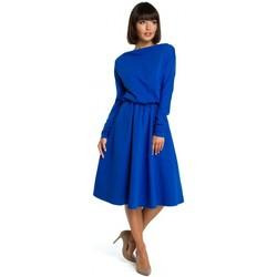 Abbigliamento Donna Abiti corti Be B087 Vestito aderente e flare midi - blu reale