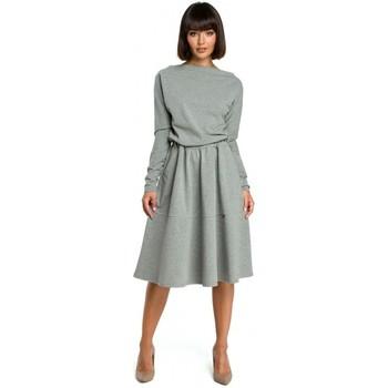 Abbigliamento Donna Vestiti Be B087 Vestito aderente e flare midi - grigio