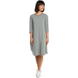 Abbigliamento Donna Abiti corti Be B083 Abito oversize con tasca frontale - grigio