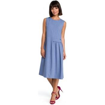 Abbigliamento Donna Abiti corti Be B080 Abito midi senza maniche - blu