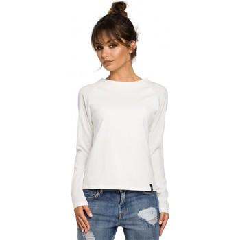 Abbigliamento Donna T-shirts a maniche lunghe Be B047 Camicetta versatile - ecru