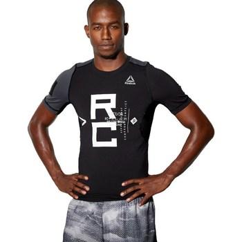 Abbigliamento Uomo T-shirt maniche corte Reebok Sport Combat SS Rash Guard Nero