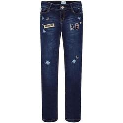 Abbigliamento Bambina Jeans dritti Mayoral Kids PANTALON LARGO TEJANO FANTASIA blu marino