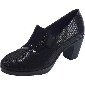 Scarpe Donna Mocassini Susimoda Mocassini  donna in camoscio diamantato nero tacco alto Nero