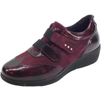 Scarpe Donna Sneakers Sabatini Sneakers Confort  donna in vernice e camoscio bordeaux Bordeaux