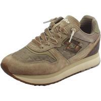 Scarpe Donna Sneakers basse Lotto ortive  Slice Padded donna camoscio grigio tessuto marrone Grigio