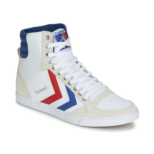 Hummel TEN STAR HIGH CANVAS Bianco  Scarpe Sneakers alte  60