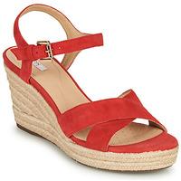 Scarpe Donna Sandali Geox D SOLEIL Rosso / Corail