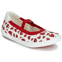 Scarpe Bambina Ballerine Geox J KILWI GIRL Bianco / Rosso