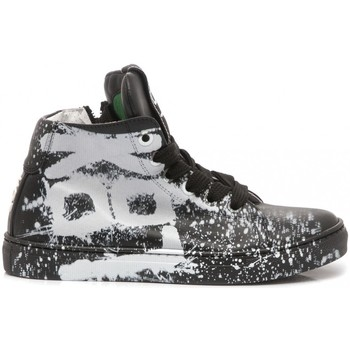 Scarpe Unisex bambino Sneakers alte Be Kool Sneakers Bambino Pelle Tattoo Nero nero