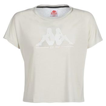 Abbigliamento Donna T-shirt maniche corte Kappa YERRI Beige / Grigio