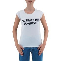 Abbigliamento Donna T-shirt maniche corte Ko Samui Tailors Manhatthan Feminist T-Shirt Bianco  KSUTB482FE Bianco
