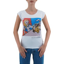 Abbigliamento Donna T-shirt maniche corte Ko Samui Tailors Alice In Wonderland T-Shirt Bianco  KSUTB436AL Bianco