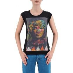 Abbigliamento Donna T-shirt maniche corte Ko Samui | T-SHIRT INDIAN DA DONNA NERO | KSU_TBC423INDIAN_BLK nero