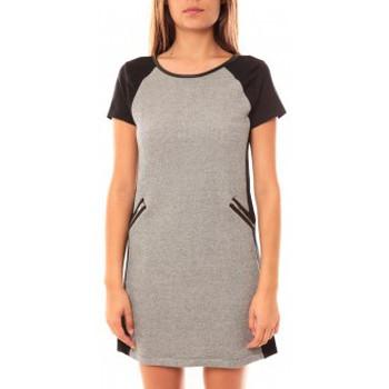 Abbigliamento Donna Abiti corti Coquelicot Robe CQTW14225 Noir/Gris Nero