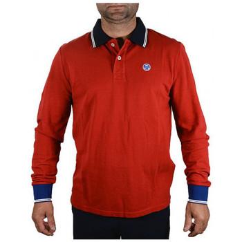 Abbigliamento Uomo Polo maniche lunghe North-Sails POLOL/SW/LOGOFelpe rosso