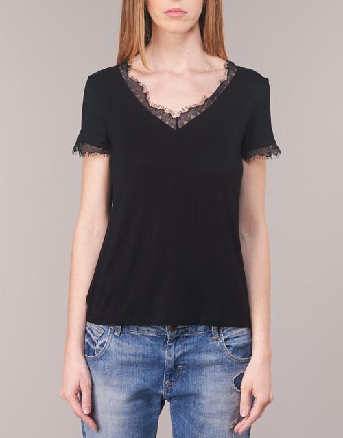 Donna 2100 Maniche Gratuita Morgan Corte Abbigliamento shirt Consegna Nero Dminol T CeorBWdx