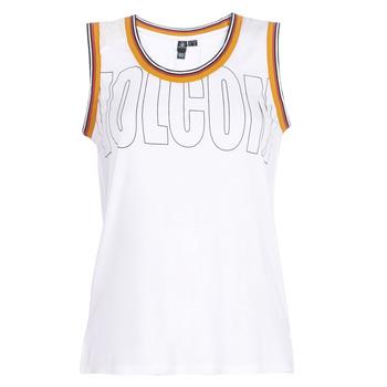 Abbigliamento Donna Top / T-shirt senza maniche Volcom IVOL TANK Bianco