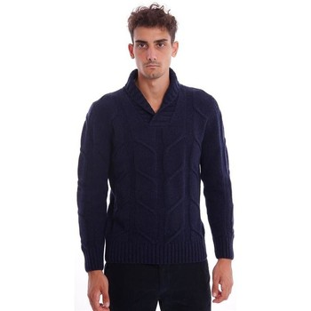 Russell Collection Navy Blu Scuro Maglione Collo V VEE Maglione