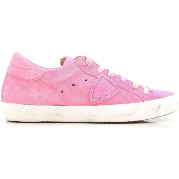 Scarpe Donna Sneakers basse Philippe Model Paris Sneakers basse  donna in scamosciato rosa Rosa acceso