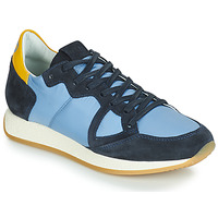 Scarpe Donna Sneakers basse Philippe Model Paris MONACO VINTAGE BASIC Blu / Giallo