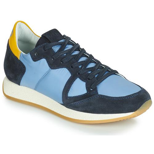 Scarpe Donna Sneakers basse Philippe Model MONACO VINTAGE BASIC Blu / Giallo