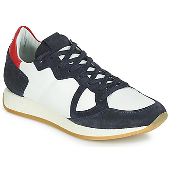 Scarpe Donna Sneakers basse Philippe Model Paris MONACO VINTAGE BASIC Bianco / Marine