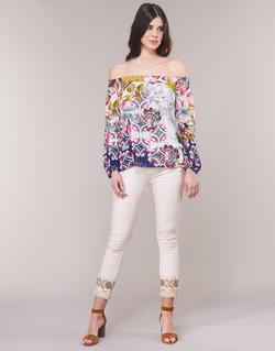 Abbigliamento Donna Jeans dritti Desigual SARI WHITE Marine