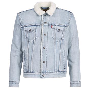 Abbigliamento Uomo Giacche in jeans Levi's TYPE 3 SHERPA TRUCKER Blu