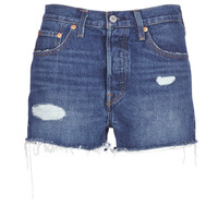 Abbigliamento Donna Shorts / Bermuda Levi's 502 HIGH RISE SHORT Blu / Medium