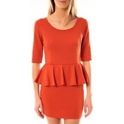 Abbigliamento Donna Abiti corti Tcqb Robe Moda Fashion Orange Arancio