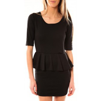 Abbigliamento Donna Abiti corti Tcqb Robe Moda Fashion Noir Nero
