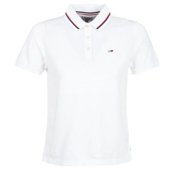 Abbigliamento Donna Polo maniche corte Tommy Jeans TJW TOMMY CLASSICS POLO Bianco