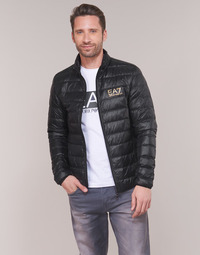 Abbigliamento Uomo Piumini Emporio Armani EA7 TRAIN CORE ID DOWN LT Nero / Oro