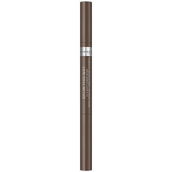 Bellezza Donna Trucco sopracciglia Rimmel London Brow This Way Fill&sculpt Eyebrow Definer 002-medium 0,25 g